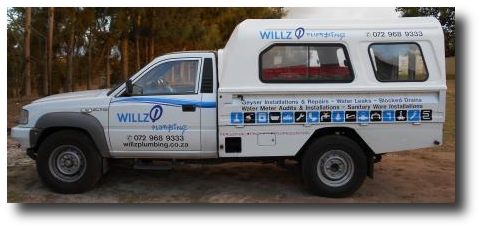 Willz Plumbing Service Vehicle