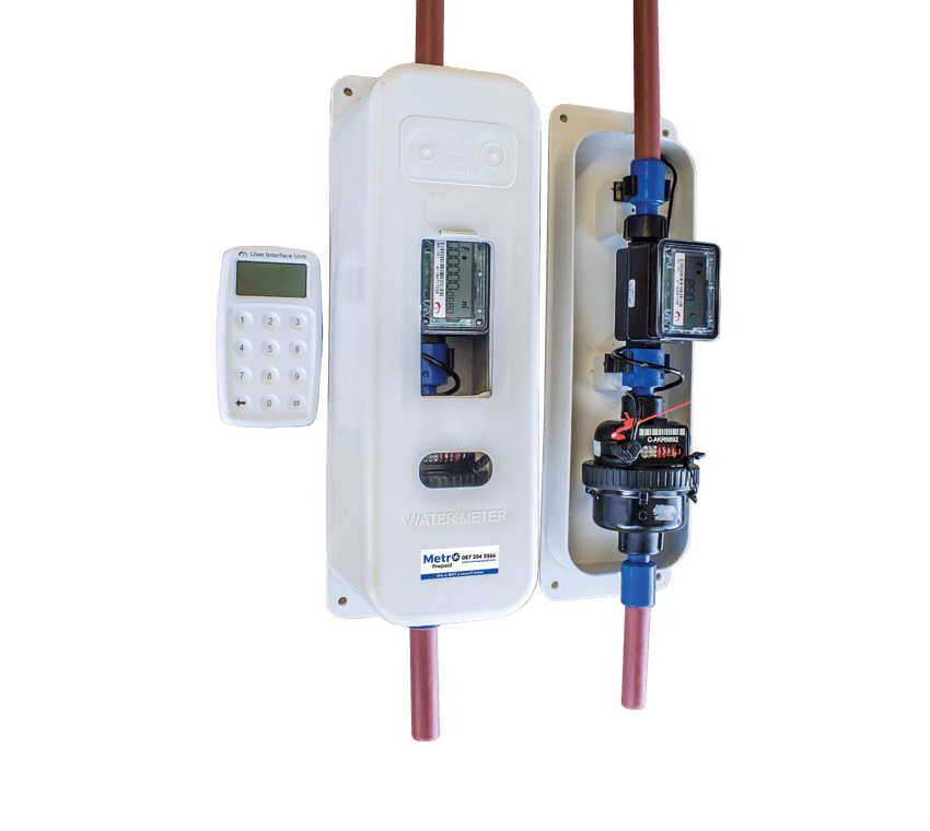 Metro prepaid water meter with keypad